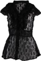 Angie Lace Button Up Cap Sleeve Shirt