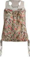 Angie Lace Racer Back Floral Print Tank Top