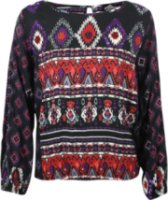 Angie Sequin Aztec Long Sleeve Blouse