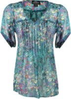 Angie Sheer Floral Blouse