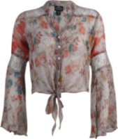 Angie Sheer Floral Print Blouse