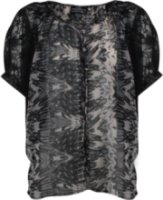 Angie Sheer Leopard Print Blouse