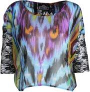 Angie Sheer Multi Print Blouse