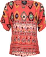 Angie Short Sleeve Ethnic Print Blouse