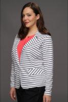 Anne Klein Ponte Striped Blazer