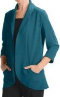 Anthracite Shawl Collar Cocoon Jacket