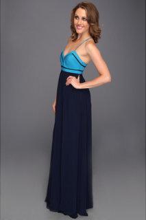 Badgley Mischka Thin Strap Maxi Dress