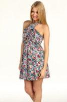 BCBGeneration Floral Print Crisscross Dress