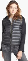 BCBGeneration Knit Sleeve Down Jacket (Online Only) Large
