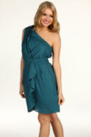 BCBGeneration Pleat Flounce Dress