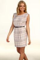 BCBGeneration Printed Strap V-Back Dress