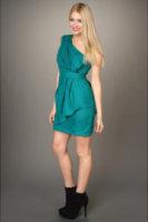 BCBGeneration Draped One Shoulder Dress