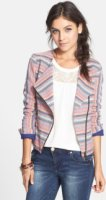 BCNU Baja Stripe Jacquard Moto Jacket Small