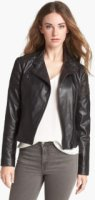 Bernardo Cutout Trim Leather Moto Jacket (Nordstrom Exclusive) X-Small