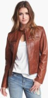 Bernardo Tab Collar Leather Jacket (Regular & Petite) (Nordstrom Exclusive) X-Small
