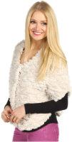 Betsey Johnson Groovy Fur Snap Closure Caplet