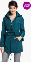 Betsey Johnson Ruffle Anorak with Detachable Hood (Online Only) X-Small