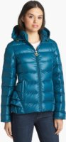 Betsey Johnson Ruffle Trim Down Jacket (Online Only) Large