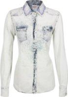 Bila Long Sleeve Acid Wash Western Shirt