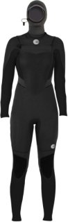 Billabong Synergy 5/4 Chest Zip Hooded Wetsuit