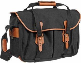 Billingham 445 SLR Camera Shoulder Bag - Black with Tan Trim
