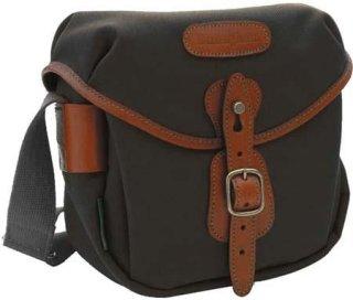 Billingham Digital Hadley Digital or Film SLR Camera Bag with Bellowed Front Pocket Black with Tan Leather Trim