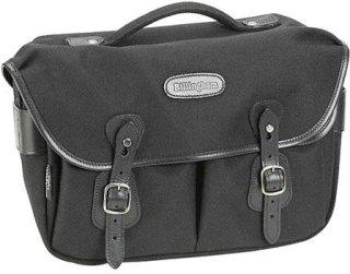 Billingham Hadley Pro Small SLR Camera System Shoulder Bag Black with Black Leather Trim.