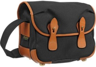 Billingham L2 (Alice) Camera Bag Black Canvas with Tan Leather Trim and Brass Fittings