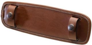"""Billingham SP15 Leather Shoulder Pad 1.5"""" Wide Tan."""