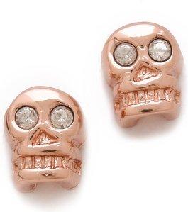 Bing Bang Skull Stud Earrings