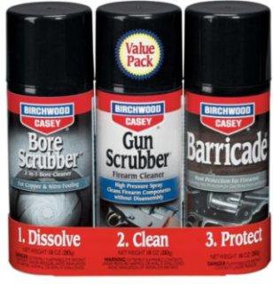 Birchwood Casey 1-2-3 Aerosol Gun Cleaning Products Value Pack