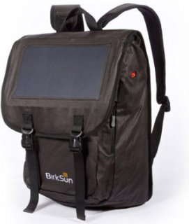 BirkSun Atlas 6 Watt Flap Front Solar Backpack Black
