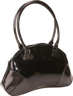 Bisadora Black Patent Bean Bag