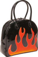 Bisadora Black Patent Flame Bag