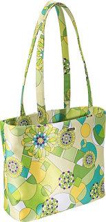Bisadora Lime Green Geometric Print Baby Bag Tote
