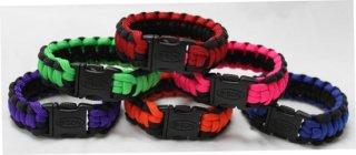 Bison Belts Survival Bracelet - Side Release Cobra Braid 2-Tone