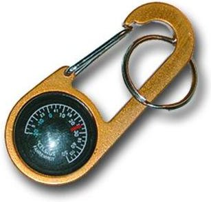 Bison Designs Clip-It Compass and Thermometer Key Ring