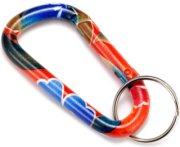 Bison Designs Clip Art Carabiner Keychain
