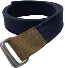 Bison Designs Recycled D Ring 38mm Leather Tip Web Belt