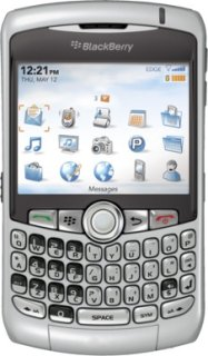 BlackBerry 8310 Unlocked Cell Phone for GSM Compatible - Silver