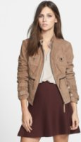 Blanc Noir Suede Moto Jacket (Online Only) Small
