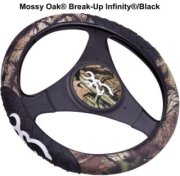Browning Signature Automotive Browning Mossy Oak Break-Up Infinity Steering Wheel Cover with Buckmark Logo
