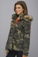 Buffalo David Bitton Camouflage Ripstop Belted Coat