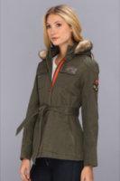 Buffalo David Bitton Two-Tone Coat with Detachable Hood