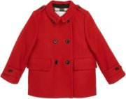 Burberry Double Breasted Wool Blend Coat (Baby) 9M