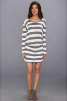 C&C California L/S Bold Stripe Blousen Dress