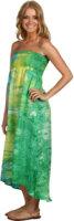 C&C California Mirage High-Low Smocked Dress
