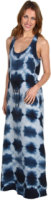 C&C California Printed Tie Waist Maxi Dress