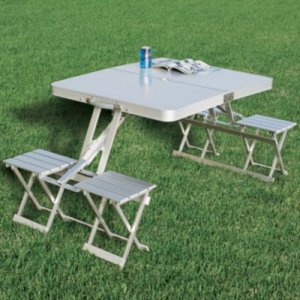 Fantastic Cabelas Folding Aluminum Picnic Table 131 99 Gearbuyer Com Creativecarmelina Interior Chair Design Creativecarmelinacom