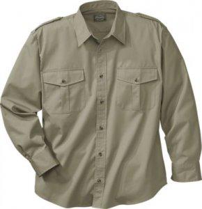 Cabela 39 s long sleeve 65 35 polyester cotton safari shirt for Cabela s columbia shirts